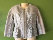 NEW NWT Moncler Blazer Jacket Dress Coat size 1 Women's Champagne White