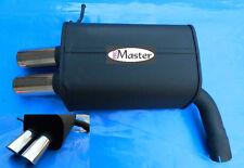 Exhaust Rear Silencer Muffler  VOLVO XC 90 XC90 2x70mm Black Tuning