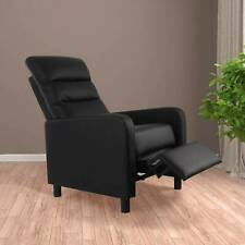 Modern Leather Recliner Armchair Upholstered Sofa Lounge Chair Home Seat
