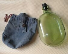 Russian Army RKKA Glass Flask with an original cover and a stopper