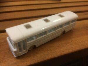 Tri-ang Minix AEC Strachans Bus Single Deck White Plastic Model