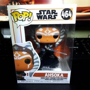 "FUNKO POP STAR WARS THE MANDALORIAN #464 AHSOKA BOBBLE-HEAD 3.75""-INCH"