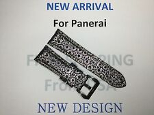 NEW 26MM PETAL PATTERN LEATHER STRAP BAND FOR PANERAI