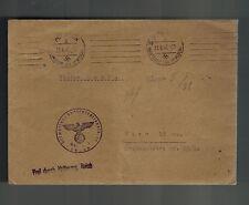 1941 Germany Dachau Concentration Camp KZ Guard Cover Waffen SS Feldpost Vienna