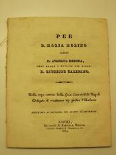 BASSI Michele, Per D. Maria Morino contro D. Angelica Rebora