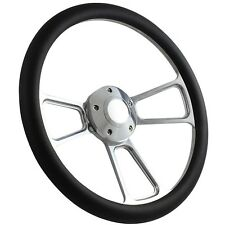 """72-82 Ford Courier Pick-up Steering Wheel Kit 14"""" Polished Muscle Steering Wh..."""