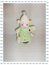 ♪ - Doudou Semi Plat Marionnette Fille Fée Etoiles Spirale Vert Ecru Bleu Kiabi