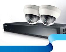Samsung SRK-3020S Kit 1x 4CH PoE NVR W/ 2x 3.6mm Full HD 1080p Dome CCTV Cameras