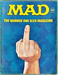 MAD Magazine #166 Apr 1974 VG+/FN 5.0 .99 Start! SUPER SOLID! The FINGER Issue!