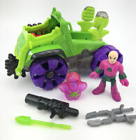Imaginext DHT68 - Lex Luthor Hauler Vehicle W/ Weapons Figure (MISSING THE CAGE)