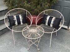 May 3 Piece Patio Bistro Setting Metal Garden Furniture Outdoor Home Deco Coffee