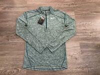 Nike Men Element Dry 1/2 Half-Zip Top Jacket Running Green Dri-FIT S AQ7903-375