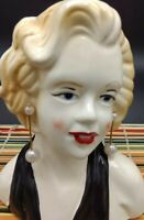 Marilyn Monroe Inspired Head Vase Blue eyed Beauty, Planter, Trinket Container