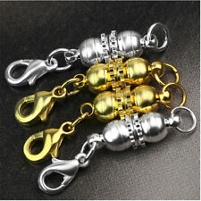 Hot Gold&Sliver Plated Metal Strong Magnetic Necklace Clasps Jewellery DIY 4Pcs