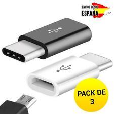 Adaptador Micro USB a USB Tipo C 3.1 2.0 Adaptadores Lote x3 unidades