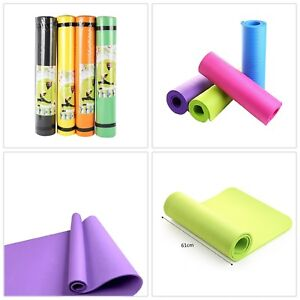 4 Colors Outdoor 4MM Foldable Exercise Yoga Mat Non-slip Thick Pad Fitness Pilat