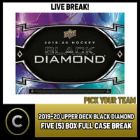 2019-20 UPPER DECK BLACK DIAMOND 5 BOX (FULL CASE) BREAK #H811 - PICK YOUR TEAM