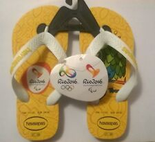cb88fbacaf8f Havaianas Kids 2016 Rio Olympic Flip Flop rear collectors item with hologram
