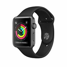 NEW/SEALED Apple Watch Series 3 38mm GPS Smart Watch - Space Gray Black Band