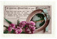 A Loving Greeting on Your Birthday Rare Vintage Postcard