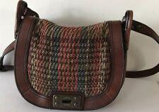 FOSSIL Long Live Vintage 1954 Brown Leather Cross Body Shoulder Bag