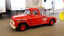 1:64 M2 CASTLINE RED CHEVY APACHE DEALERSHIP WRECKER / TOW TRUCK USED LOOSE NICE