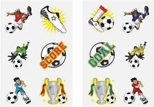 6 FOOTBALL STRIP AND NAME TEMPORARY TATTOO PARTY LOOT BAG FILLERS