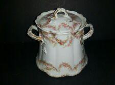 Haviland Limoges VARENNE Schleiger 145 PINK ROSES w/GOLD Sugar Bowl & Lid