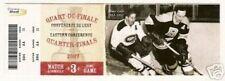 Elmer Lach Hal Laycoe - Stanley Cup HOCKEY Ticket