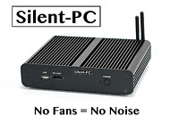 Silent-PC Fanless Quiet Mini HTPC IPTV Desktop Computer, Intel Core i7 7500u