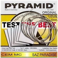 orginal Cem MC PYRAMID UZUN BAGLAMA SAZ teli 1 Pack (7saiten) saz kursu Mannheim