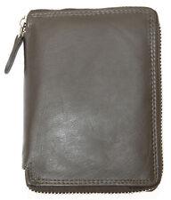 Men's quality zip-around brown genuine leather wallet Kabana.Worldwide Shipping.