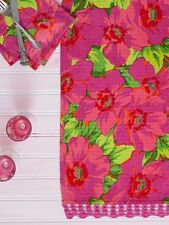 April Cornell Table Runner Daydream Honeycomb Collection NWT 100% Cotton Fuchsia