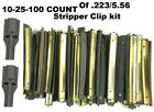 NEW USGI STRIPPER CLIPS WITH SPOONS 5.56/.223 LOTS 10-25-100 With Speed Loaders