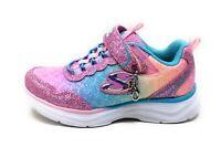 Skechers Little Girls Glimmer Kicks Sea Sparkle Pink Multi Shoes Size 3