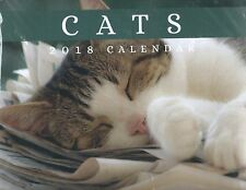 2018 CATS WALL CALENDER MONTH TO VIEW SEALED WITH ENVELOPE SPACE FOR WRITING