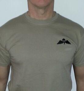 Airborne Forces, parachute Regiment, subdued parachute wings Khaki T Shirt