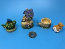 More details for bundle of vintage collectables resin small ornamental figurines home decor