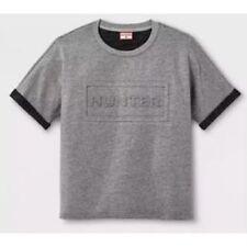 63a21c46d6e Hunter X Target Men s Embossed Rolled Sleeve Gray T Shirt Sweatshirt Size XL