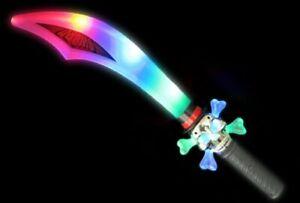Flashing Pirate Sword Light Up Fancy Dress Adults Kids Childrens Toys Plastic UK