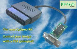 KMTech Cyclone RX Playstation Joystick Gamepad Adapter for Commodore Amiga