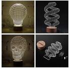 3D Illusion Bulbing Skull Lamp LED Night Light Micro USB Table Desk Lamp I