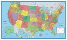 Wall Map Of The United States USA Road Travel Maps Hanging US Poster Home