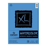 Canson XL Watercolor Pad (30 sheets - Tape Bound) 9x12""