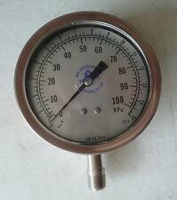 "New Ashcroft 3.5"" Pressure Gauge, Model 351009SW-02L. 0 to 15 psi, 1/4""NPT"