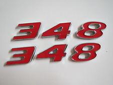 CHEVROLET 348 STROKER ENGINE ID FENDER HOOD SCOOP QUARTER TRUNK EMBLEMS - RED