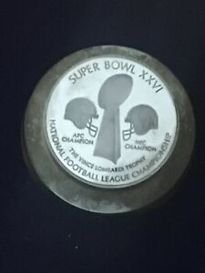 SUPER BOWL XXVI NFL CHAMPIONSHIP COIN TOKEN STAMPING DIE VINCE LOMBARDI