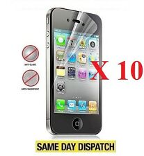 10 x Anti-Glare (Matte) Screen Protectors Cover Film For iphone 4 4G 4S