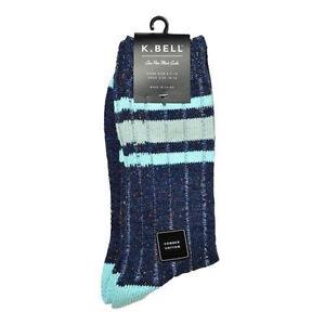 K. Bell Men's Nep Stripe Crew Socks One Size - 66909M