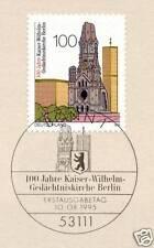 BRD 1995: Kaiser-Wilhelm-Gedächtsniskirche Nr. 1812 mit Bonner Stempel! 1A 1604